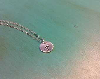 """Sterling Silver """"Tiny Drop"""" Initial Necklace"""