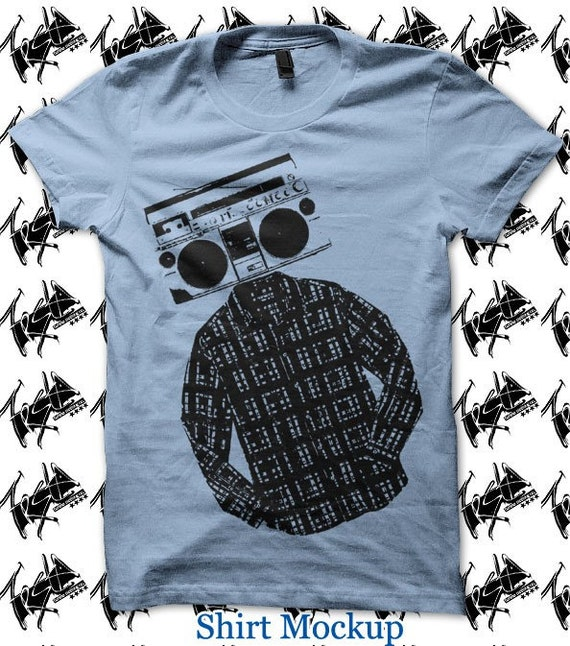 Mens T shirt- Boombox TShirt available in Blue  L XL