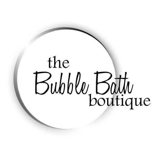 A bubble bath logo - A pre-made logo for scented and handmade soaps