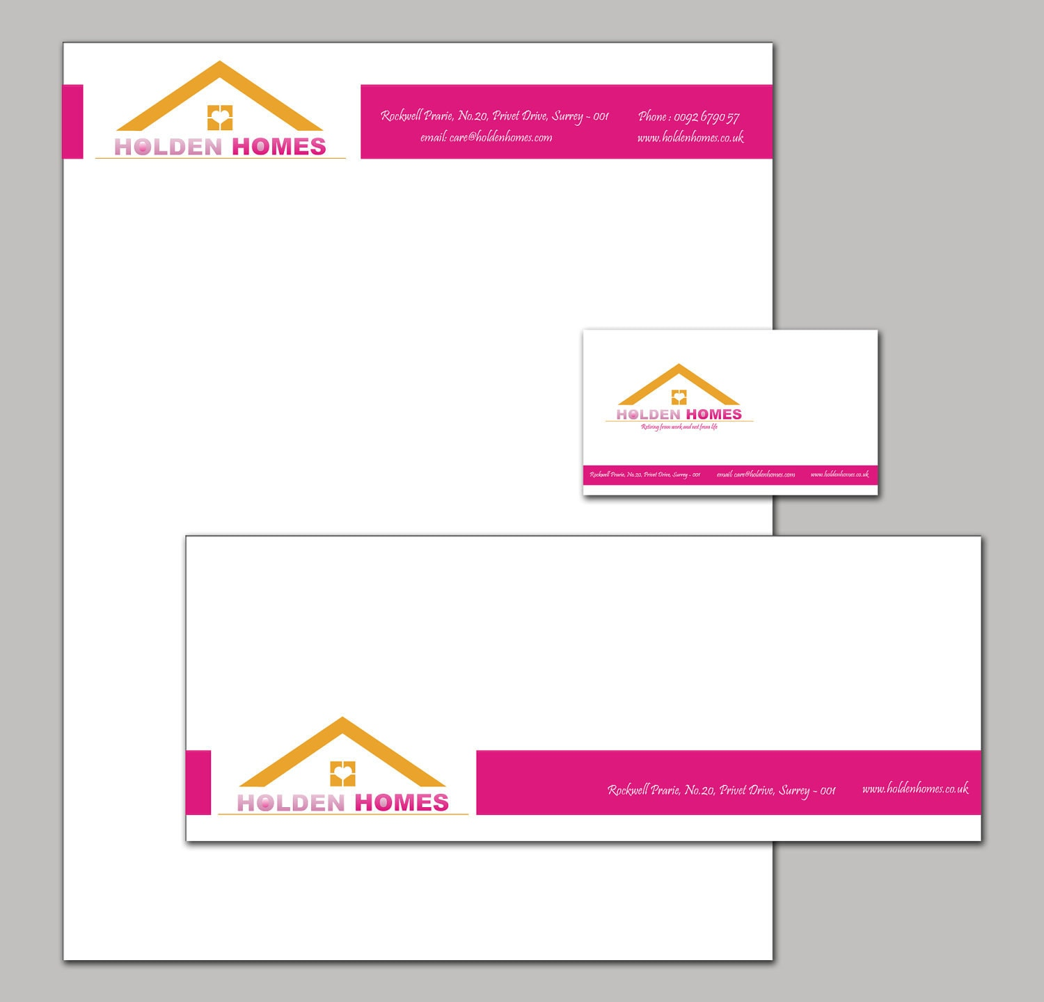 Letterhead Envelopes: Company Branding Stationary Set With A Letterhead Envelope