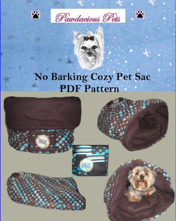 Pattern PDF Cozy Pet Sac/Bed