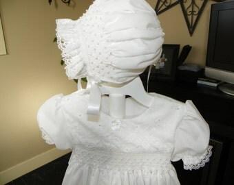 12 Month White Pretty Pearls Christening Set