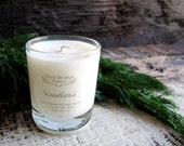 VOTIVE Candle Coconut Wax Massage Candle with Essential oils All natural Organic WOODLAND