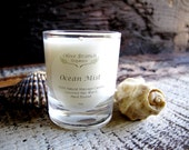 VOTIVE Candle Coconut Wax Massage Candle with Essential oils All natural Organic OCEAN MIST