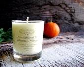 VOTIVE Candle Coconut Wax Candle with Essential oils All natural Organic SANDALWOOD & satsuma ORANGE