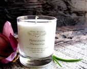 VOTIVE Candle Coconut Wax Candle with Essential oils All natural Organic HAWAIIAN PLUMERIA