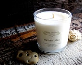 Organic Candle OCEAN MIST Coconut Wax Candle Essential Oils All Natural Aromatherapy 10 oz.