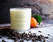Organic Candle MANDARIN & CLOVE Vegan Coconut Wax Candle Essential Oils All Natural 10 oz.