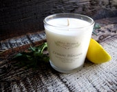 Organic Candle LEMON BLOSSOM Vegan Coconut Wax Candle Essential Oils All Natural 7 oz.