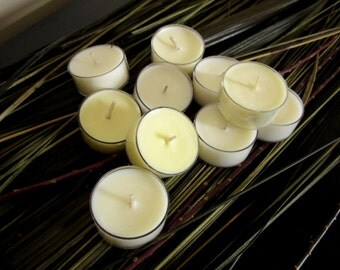 SAMPLE - 10 Tea Lights Organic Coconut Wax Aromatherapy All-Natural w/ Essential Oils