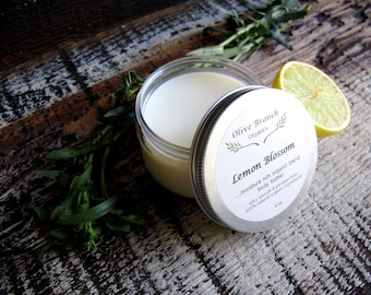 Body Butter Natural Organic Skin Care All Natural with Essential Oils LEMON BLOSSOM