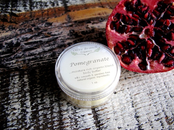 Body Butter travel size POMEGRANATE All Natural Vegan with Essential Oils 1 oz.