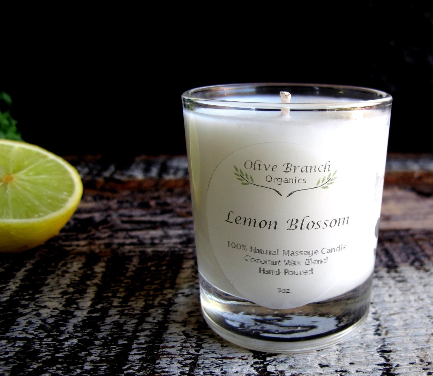 VOTIVE Candle Coconut Wax Massage Candle With Essential Oils