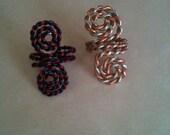 Two beautiful twisted metal ear cuffs