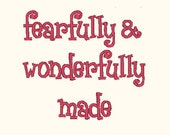Fearfully Made Embroidery Design