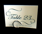 Wedding Table Settings, Modern Card Holders For Large Table Numbers, Reception Decorations, Conferences, Rehearsal Dinners, 12