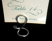 Wedding Place Settings, Small Silver Place Card Holders, 12