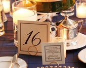 Simple Gold Table Number Holders, 4