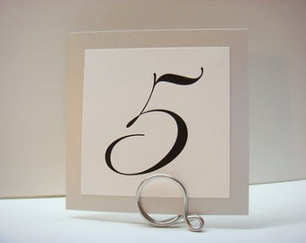 Table Number Holders, Nice Quality Reception Decor, 5pcs