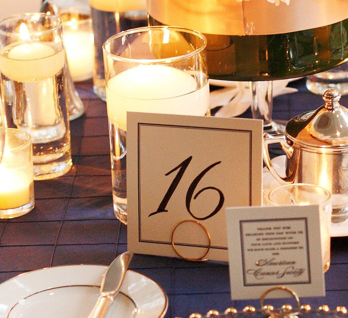 Simple Round Wedding Reception Table Card by HomesAndWeddings
