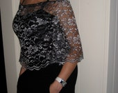 Smock Lace Top (Silver-Black) - Eco fashion project