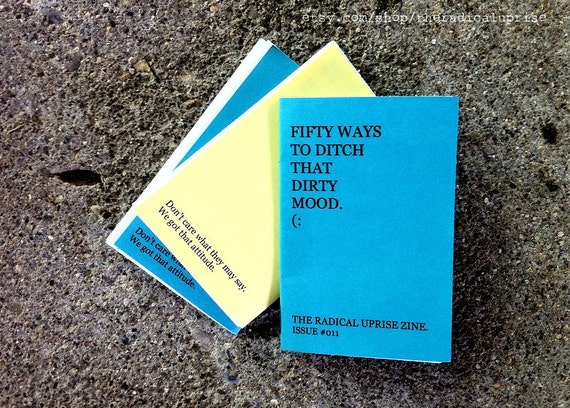 Fifty Ways to Ditch that Dirty Mood mini zine 011