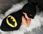 Inspired Bat Cape with Hat Newborn Photography Prop