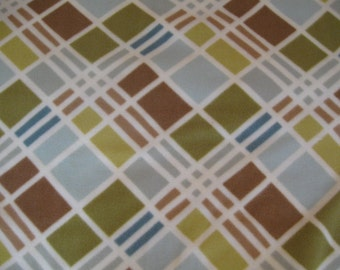 Geometric Blue, Green and Brown Custom Saddle Cover