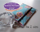 iPod Phone Wallet Case PDF PATTERN - diy sewing tutorial - iphone smart phone ipod touch nano shuffle camera earbuds