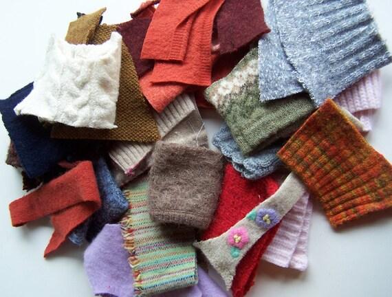 Felted Wool Sweater Scraps