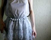 SALE 50% OFF oceans of love - vintage 50s revived pale blue blouse