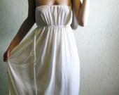 awakened one - lovely creamy ivory organic tencel strapless maxi dress