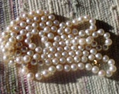 Vintage Opera Length Cultured Pearl Necklace