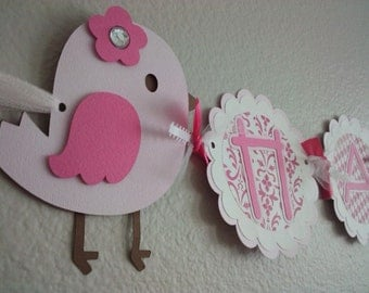 A Little Bird Happy Birthday Banner
