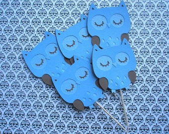 Owl Boy Cupcake Toppers