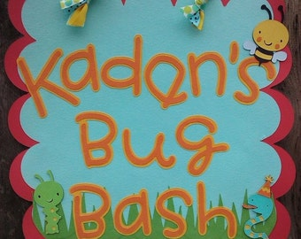 Bug Bash Door sign