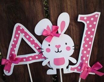 Bunny Theme Birthday Centerpiece set of 3