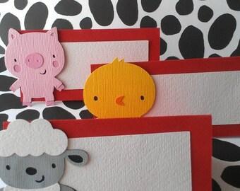 Farm theme place cards