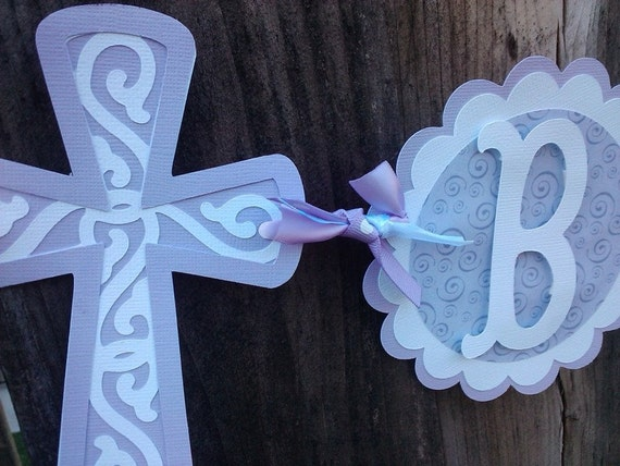 CUSTOM Baptism banner, purple, lavender or pick your own colors