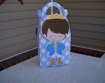 Prince Gable Favor Boxes Set of 10