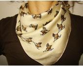 Cute Vintage skiing bear print shawl Scarf