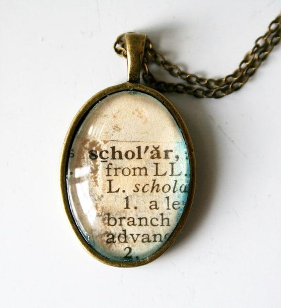 Scholar pendant necklace - a great grad gift
