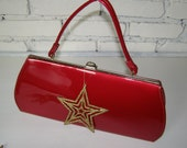 Reserved for Nyssa Vintage 60's Purse - Large Red Handbag