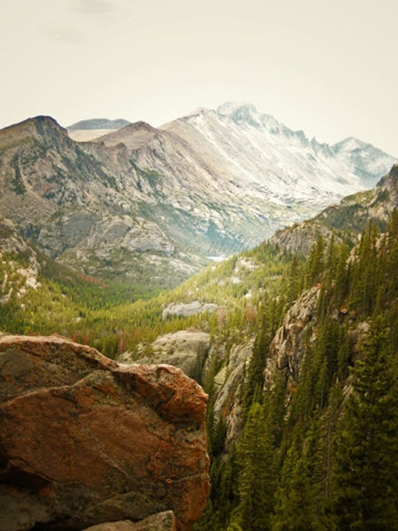 Rocky Mountain Photography Print 11x14 Fine Art Colorado Autumn Wilderness Landscape Photography Print.
