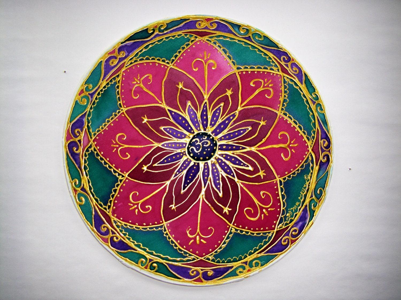 Flower Mandala Ohm yoga art mandala art