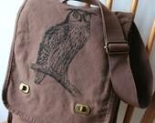 Owl Field Bag Canvas Screen Printed