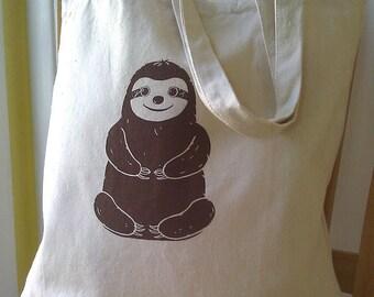 Sloth Tote Bag Canvas Book Bag