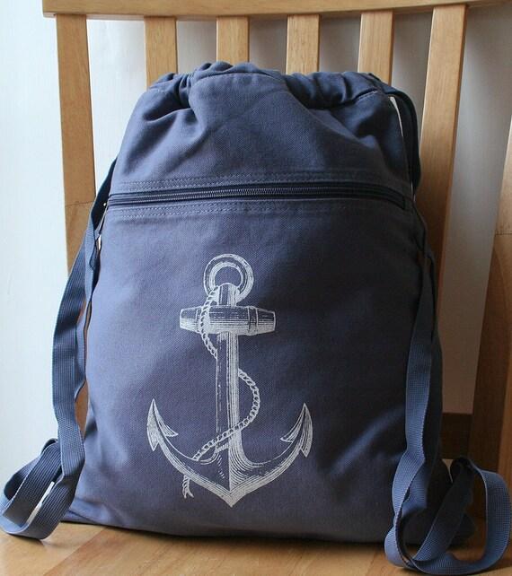 Anchor Backpack School Bag Gym Bag