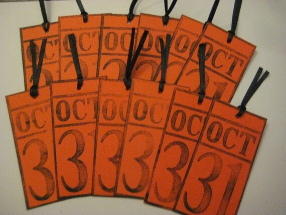 Oct 31st Halloween Decorative Tags