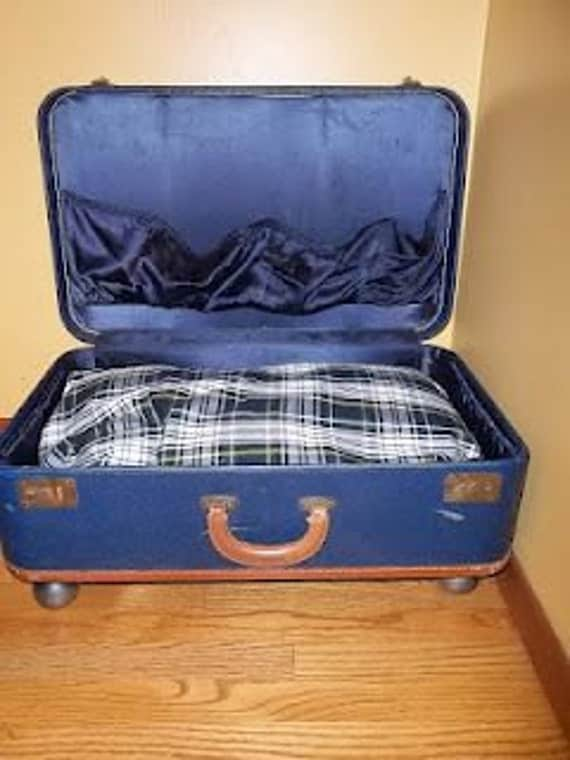 Vintage Suitcase Dog Bed, Free Shipping